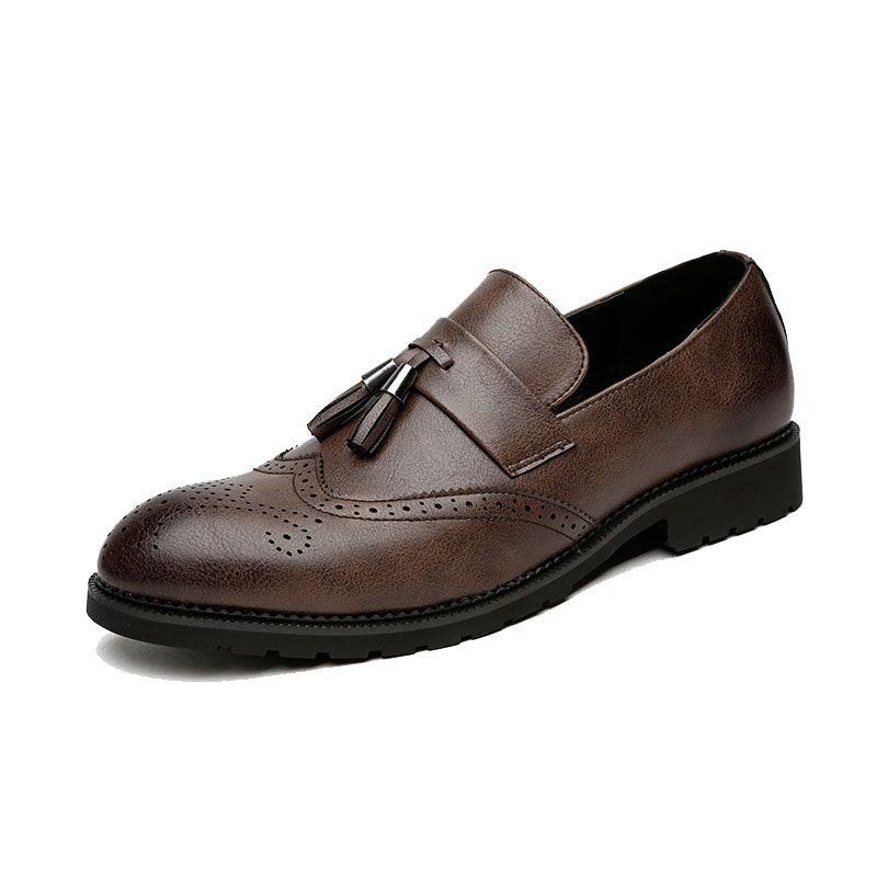 1dfeb881 Compre 28 68 Zapatos De Vestir Para Hombre Brogues Diseñador De Cuero Marca  De Lujo Elegante Clásico Para Hombre Zapatos De Vestir # MSW8118121 A $74.0  Del ...