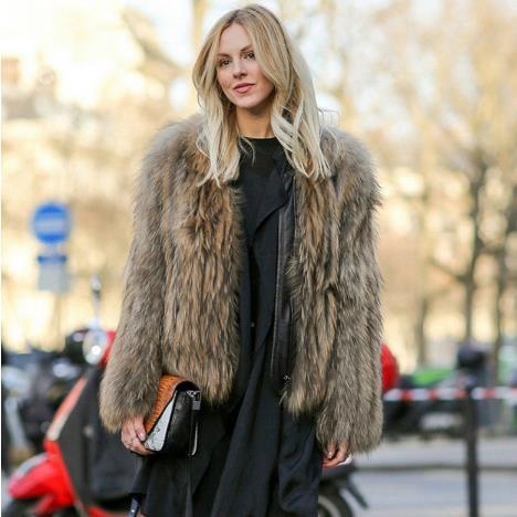 8726b246b Furry Women faux fur Coats 2018 Sexy Women's Faux Fox Fur Winter Coat  Office Ladies Wear Vintage Flurry Short Jackets M756