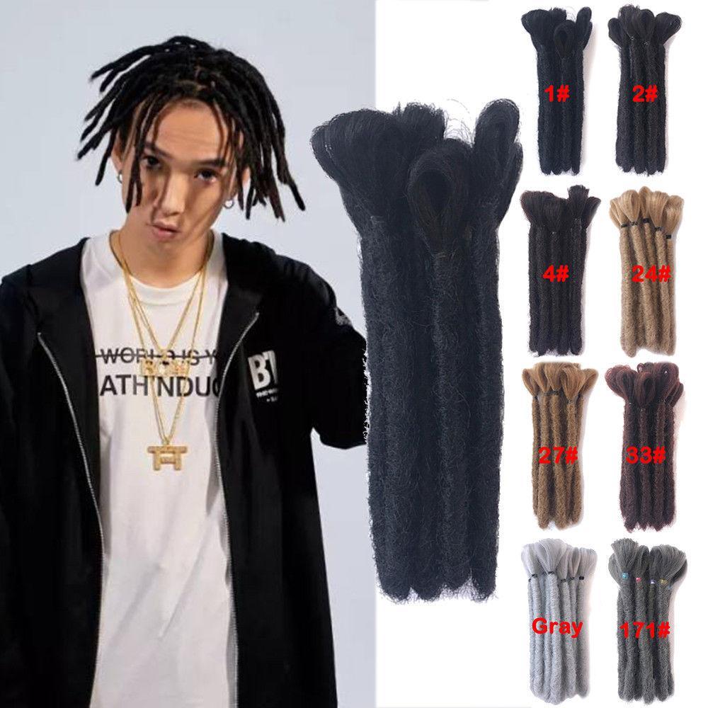 Dreads Short Handmade Dreadlocks 15CM,30CM Black Hair Extensions Reggae  Hair Hip,Hop Style Synthetic Braiding Hair For Men