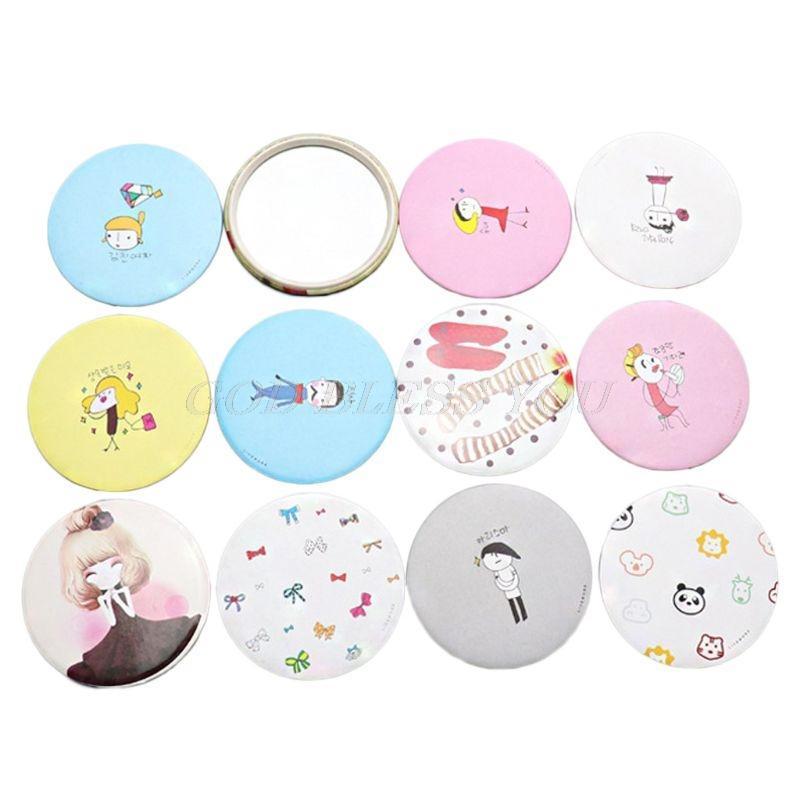 Schönheit & Gesundheit 1 StÜcke Neue Mini Tasche Kosmetikspiegel Taschenspiegel Zufällige Farbe Durchmesser 7 Cm Schminkspiegel