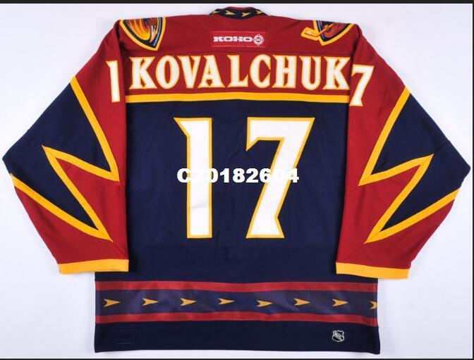 2019 Real Men Real Full Embroidery  17 Ilya Kovalchuk 02 03 Atlanta  Thrashers Game Worn Team Russia Jersey Or Custom Any Name Or Number Jersey  From ... f990eff2c