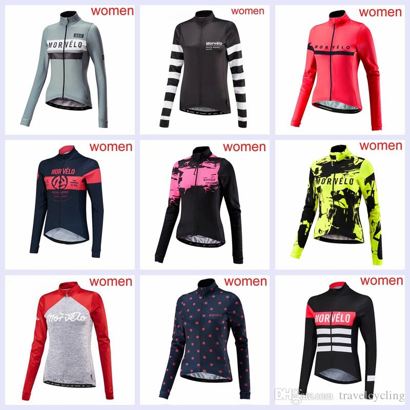 2018 Morvelo Pro Team Women Cycling Jersey MTB Bike Wear Clothes ... fe794ed17