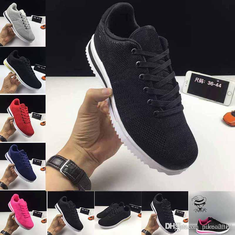 1bb0b52fe Cheap Best Sellers 2018 Classic Shoes 5.0 Cortez Basic Leather Casual Shoes  Zapatillas Men Women Black White Red Golden Sneakers Size 36 45 Loafers Mens  ...