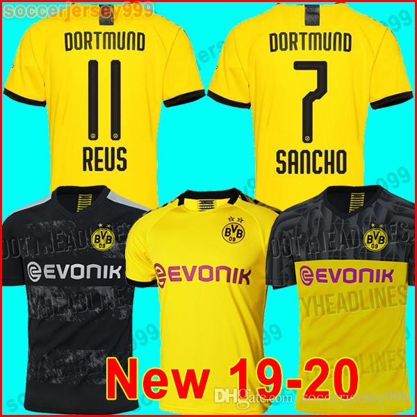on sale c4122 e4455 TOP Thailand Borussia Dortmund soccer jersey 2019 2020 PHILIPP GOTZE REUS  PULISIC WITSEL 19 20 PACO ALCACER KAGAWA football shirt uniforms