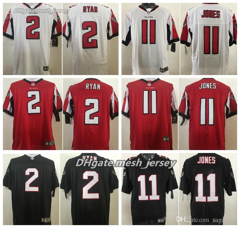 185267ca9 ... closeout 2019 men atlanta falcons jersey 11 julio jones 2 matt ryan  stitching elite jerseys black