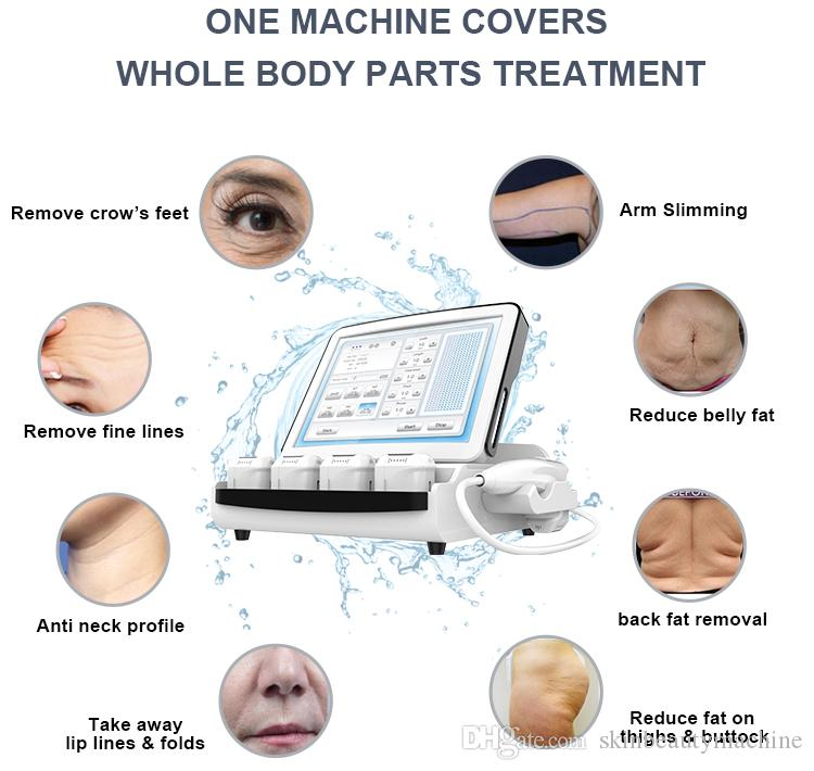 High end 3D HIFU Facelift Anti Neck Aging Machine HIFU Wrinkle Removal Face Lifting Skin Care Equipment 20,500 Shots 8 Cartridges