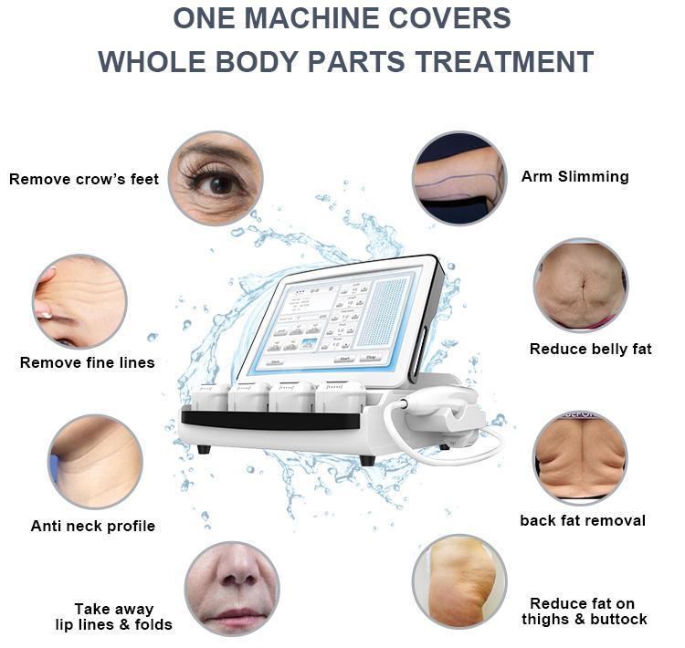 High Tech 3D HIFU Body Contour Machine Focused Ultrasound Fat Reduction Non Invasive Lipo Body Treatment Hifu Slimming Fda Approval