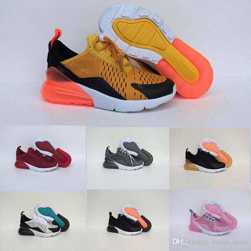 buy popular 463a9 34f28 Acheter Nike Air Max 27c Chaussures De Course Pour Enfants AirCushion En  Maille 270 Originals 270 OG 1 2 Baskets D extérieur AirCushion Pour Enfants  De ...
