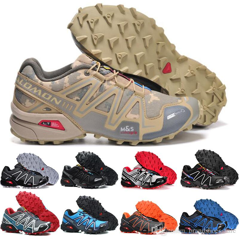 chaussures de sport dbd4a 5b4f6 2018 Salomon Shoes Speed Cross 3 CS III sport sneakers Men Camouflage  Outdoor Comfortable Male Jogging Shoes Fencing Shoes