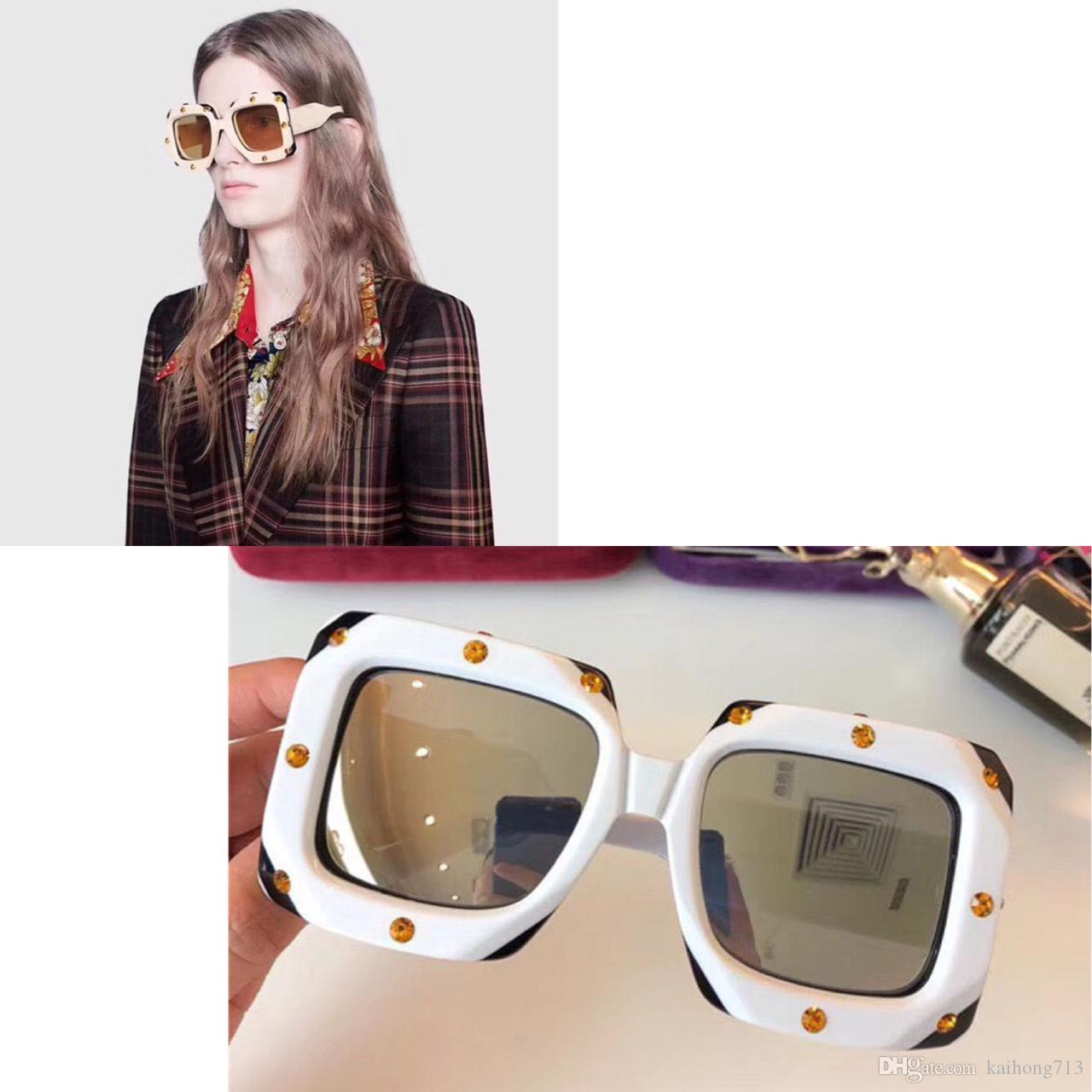 3874121c3b 0481 New Fashion Selling Women Designer Sunglasses Square Frame ...