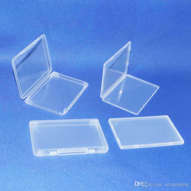 Acheter Carte SIM PP Boitier 11mm 5mm Boite En Plastique Transparent Standard Titulaire De La Credit Blanche Visite Case Stockage