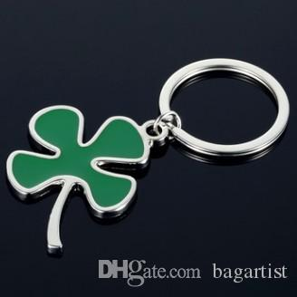 MAKE YOU LUCKY 4 LEAVES CLOVER PENDANT KEYCHAIN KEYRING AWESOME KEY  ACCESSORIES KYECHAINS KEYRINGS FOR GIRDLE LEATHER STRAP BELT BAG CAR KEY  Anime Keychains ... 766ef9985