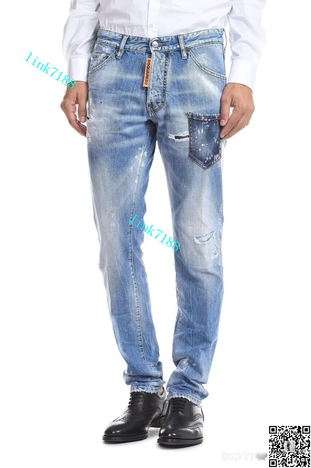 db7ed34cf2 Compre Diseñador De Jeans Para Hombres Moda Parches De Parche De Alta  Calidad Biker Jeans Rojos Para Hombre Clásico Para Hombre Ropa 1.1 2 A   58.89 Del ...