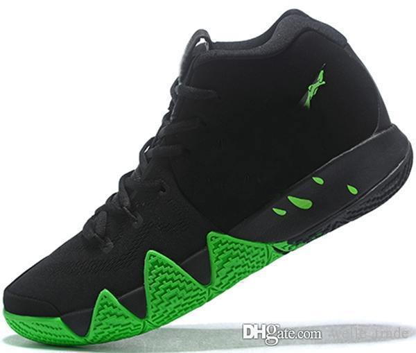 sports shoes 05990 f0b46 Lucky Kyrie Charms 4 Iv Mens Basketball Shoes Top Quality Irving 4  Halloween Confetti Color Green Designer Trainers Sneakers Chausseures