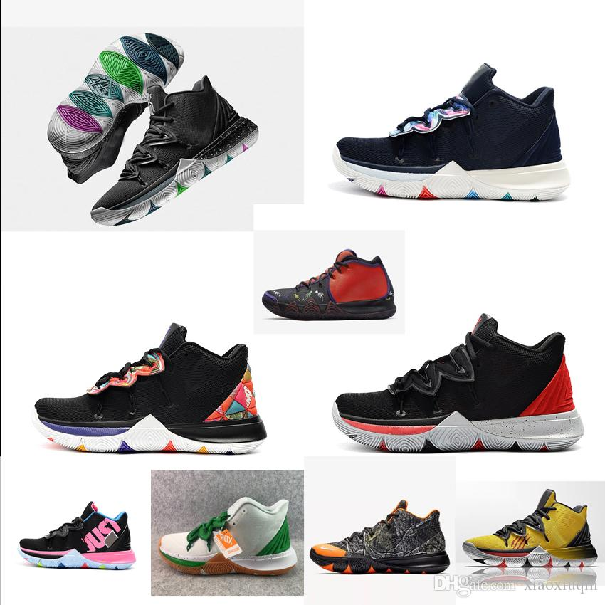 2019 Womens Kyrie 5 Basketball Shoes New Black White Red Oreo Galaxy Bred  Taco Boys Girls Youth Kids Kyries Irving V Sneakers Tennis With Box From ... 55e701c97