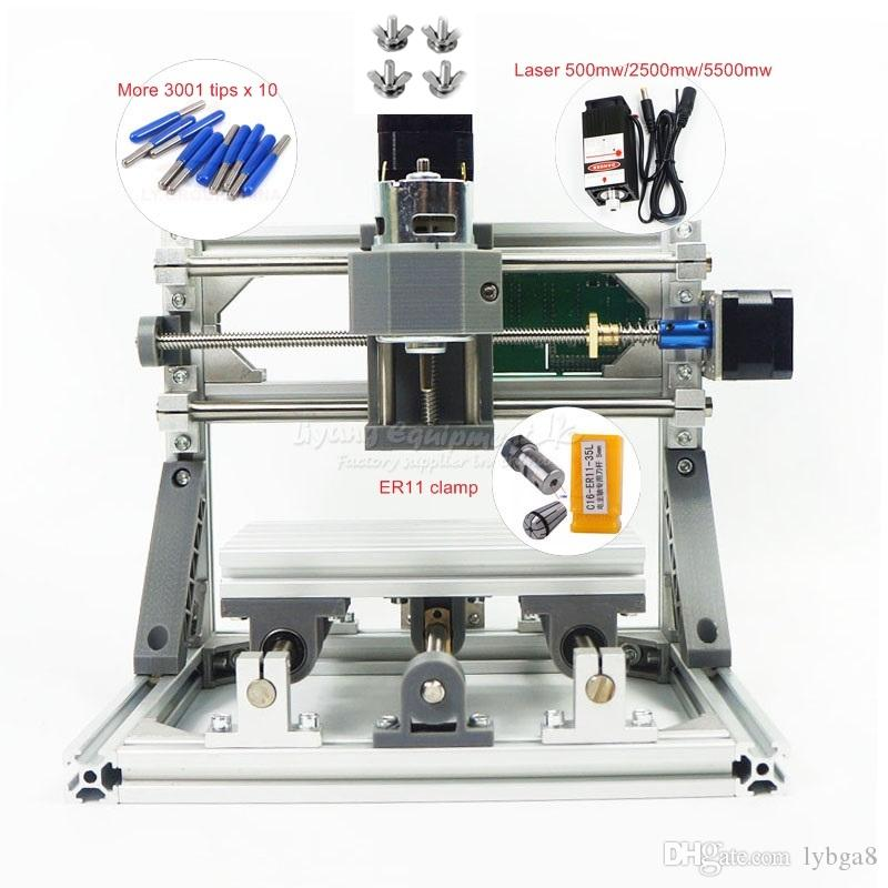 DIY mini CNC 1610 PRO without laser or with laser CNC engraving machine Pcb Wood Carving machine