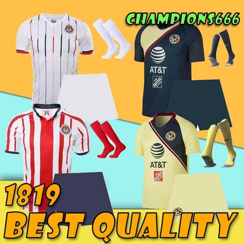 b2397708bb2 2019 2018 2019 LIGA MX Club America Adult Soccer Jerseys O.PERALTA I.RENATO  18 19 Chivas De Guadalajara Mexico Home Away Football Shirt Men Kit From ...