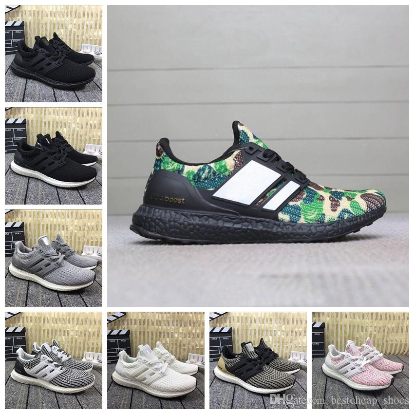 low priced b610a 0bbcb Bape X Adidas Ultra Boost Nuevo Camo Ultra Boost 4.0 Triple Negro Blanco  Primeknit Oreo Hombre Zapatillas De Running Para Hombre Ultra Boosts  Ultraboost ...