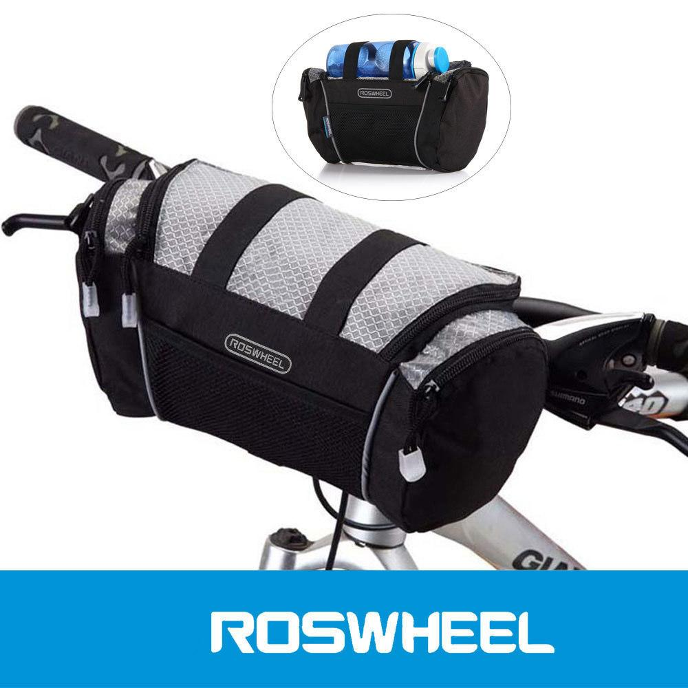 2019 5l Bike Handlebar Bag Bicycle Front Tube Pocket Shoulder Pack