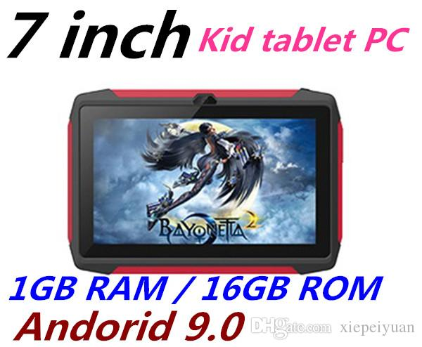 FREE DHL kid Tablet PC Q98 Quad Core 7 Inch 1024*600 HD screen Android 9.0 AllWinner A50 real 1GB RAM 16GB Q8 with Bluetooth wifi