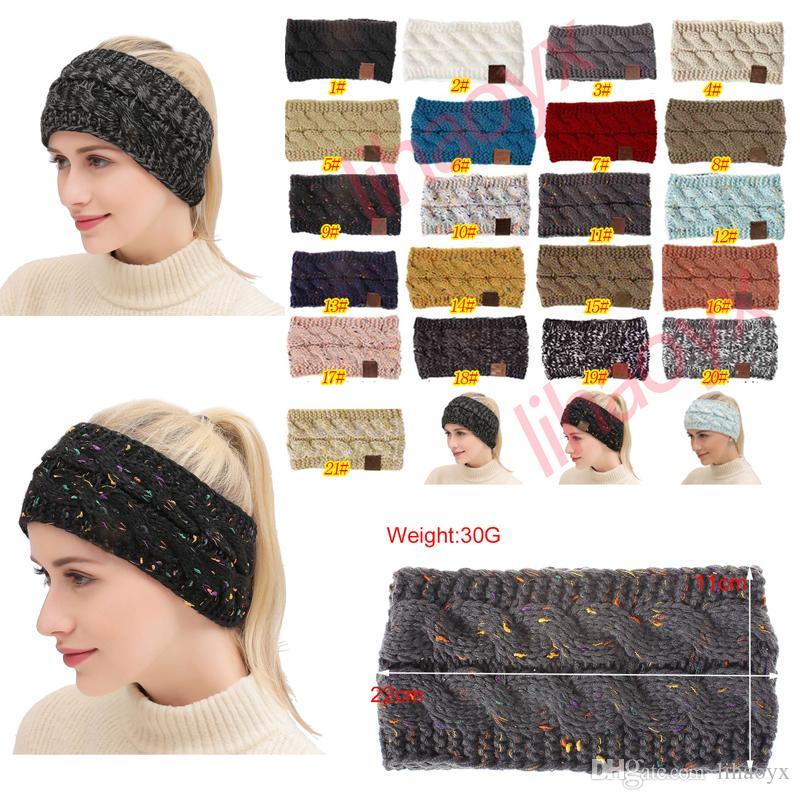 89a39d2165dd Acheter 21 Couleurs Tricoté Crochet Bandeau Femmes Sports D hiver Bandeau  Serre Tête Turban Bandeau Oreille Réchauffeur Bonnet Casques De  0.99 Du  Lihaoyx ...