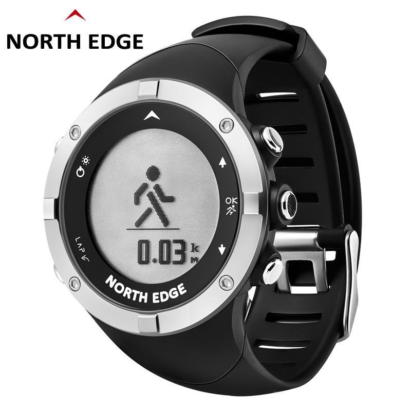 2706886f912 Compre GPS Relógio Rastreador NORTH EDGE LED Digital Relógios De Pulso  Resistir À Água Relógios Esportivos Relógio Relogiomasculino Inteligente  Bluetooth De ...