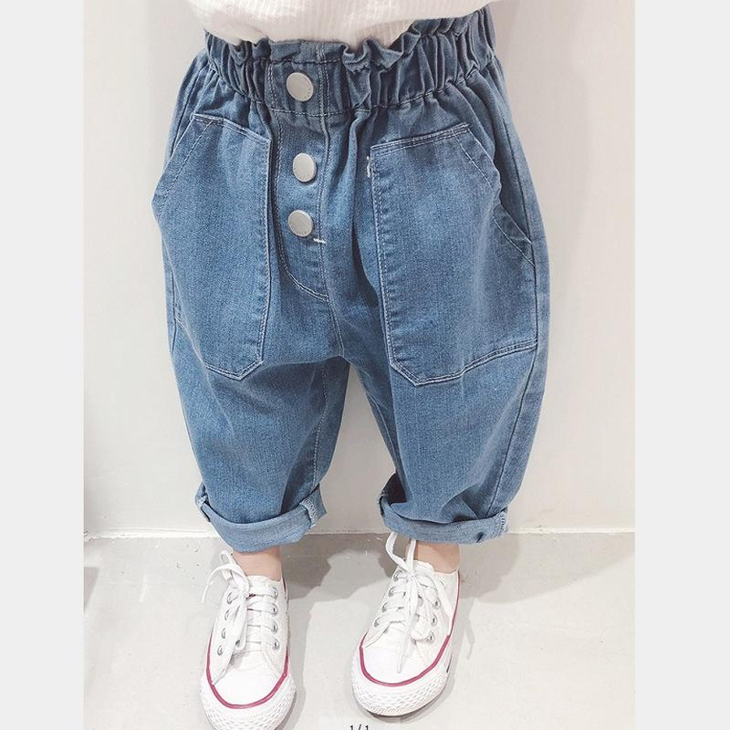 ee1030713 WLG Girls Spring Casual Jeans Kids Girl Loose All Match Trousers Baby  Clothes 3-7 Years Online with $44.0/Piece on Cynthia09's Store   DHgate.com