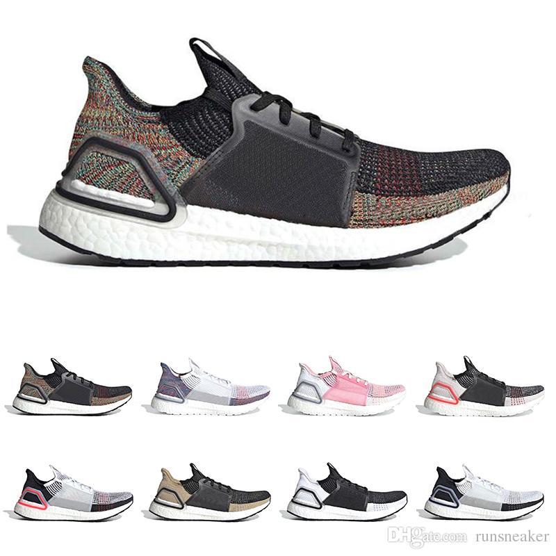bcf913f9ac7fa Cloud White Black Ultra Boost 2019 Ultraboost 5.0 Mens Running Shoes ...