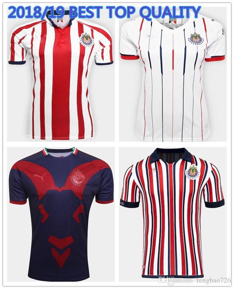 2019 2018 2019 Chivas De Guadalajara Jerseys World Cup Soccer Jerseys Long  Sleeve Kit 110 Year 18 19 MEXICO Club A.PULIDO Football Shirts From  Fengbao726 764dda935