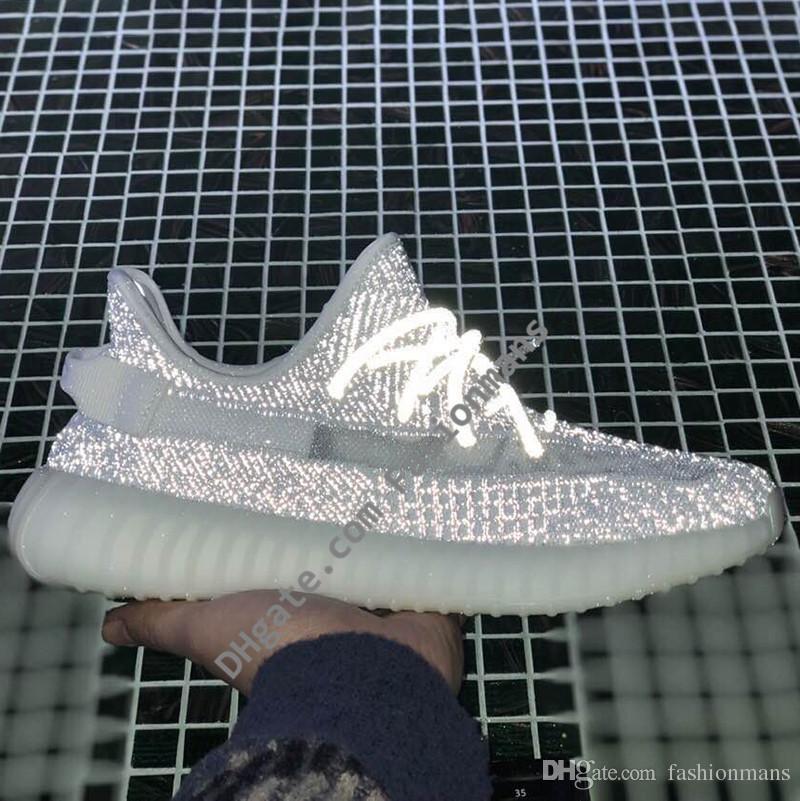 59f2e72ae 2019 New 350 Static Reflective V2 Running Shoes Kanye West Mens ...