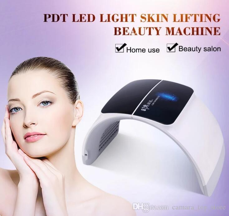 2020 7 Farben PDT LED-Maske Skin Whitening Hautverjüngung Photon LED Lichttherapie Gesicht Hals Home Use Skin Care Gesicht Maschine