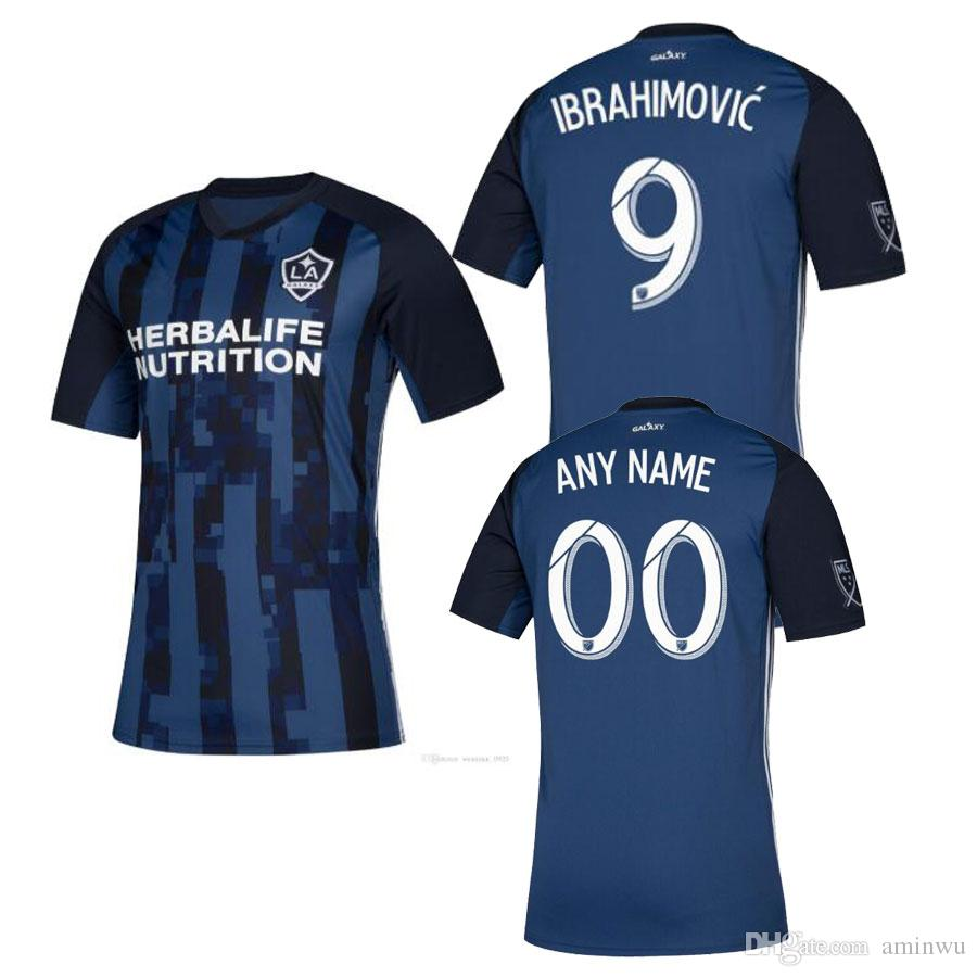san francisco 25035 69e63 LA Galaxy Zlatan Ibrahimovic jersey 2019 Los Angeles Away Blue Football  Shirt 19 20 ALESSANDRINI J.DOS SANTOS LLETET Kamara soccer jersey
