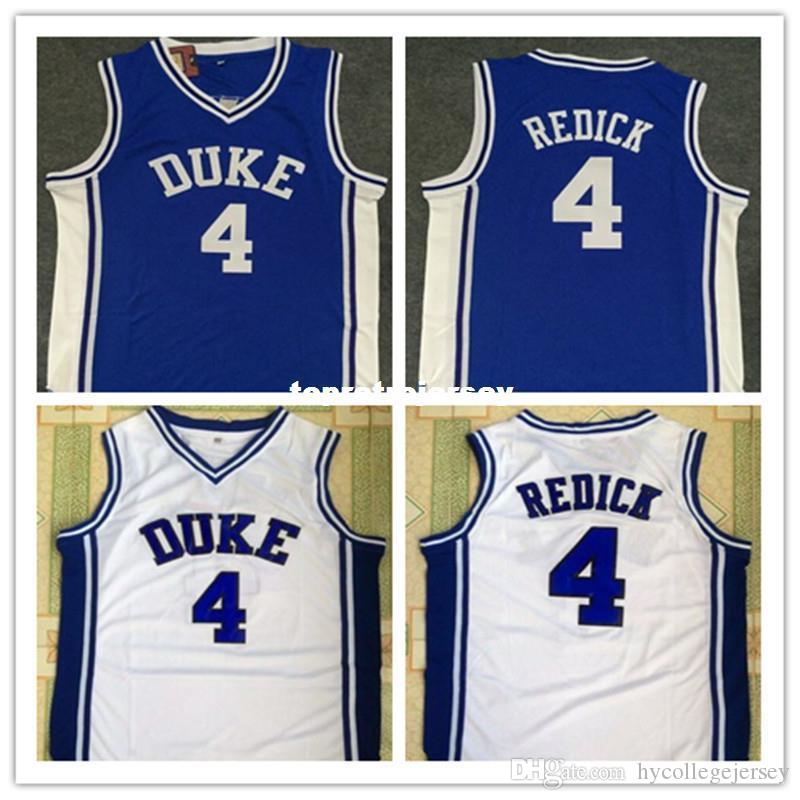 50d54abf 2019 Cheap #4 JJ Redick Duke Blue Devils Vest T Shirt Jersey Blue White Retro  Basketball Jersey New Material Top Quality Embroidery Jersey From ...