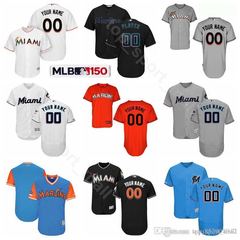 low priced 6ed00 14630 Miami Baseball Marlins 13 Starlin Castro Jersey Flexbase 15 Brian Anderson  9 Lewis Brinson 18 Neil Walker 21 Curtis Granderson Miguel Rojas