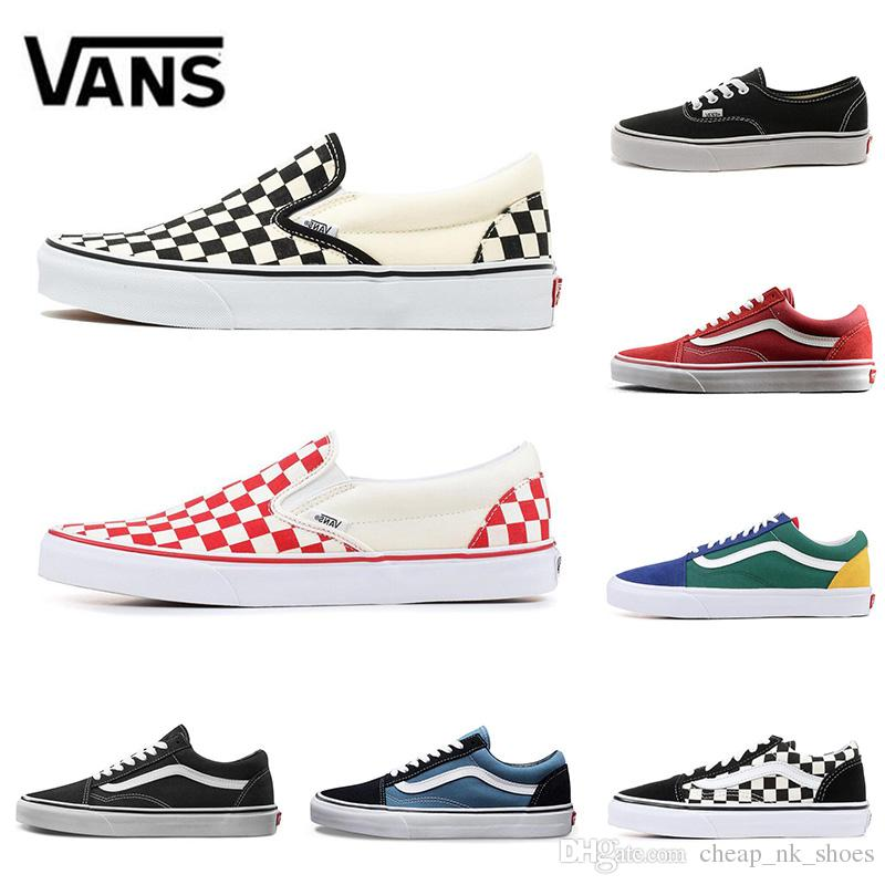 2960da76bf0674 Original Vans Old Skool Sk8 Fear OG Classic Men Women Canvas Sneakers  CHECKERBOARD RED Black White YACHT CLUB MARSHMALLOW Skate Casual Shoes Gold Shoes  Mens ...