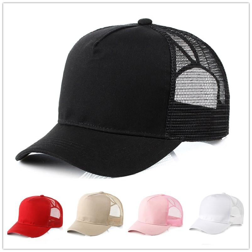 acc2cfac1 fashion Solid Ponytail Baseball Cap Women Snapback Dad Hat Mesh Trucker  Caps Messy Bun Summer Hat Female Adjustable Hip Hop Hats