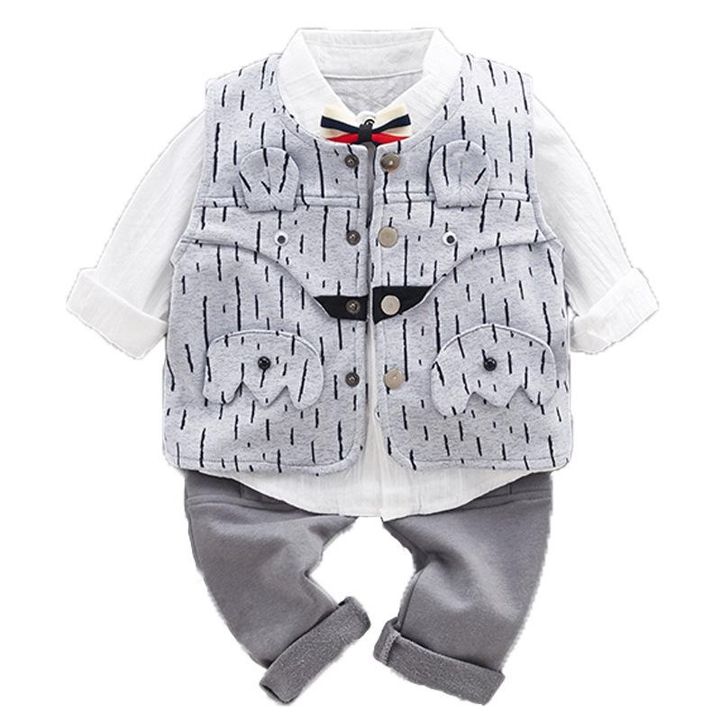 274692761 2019 WLG Boys Spring Clothing Set Kids Fashion Striped Vest White Shirt And  Pant Set Baby All Match Clothes Children 9 36 Months From Westbit19
