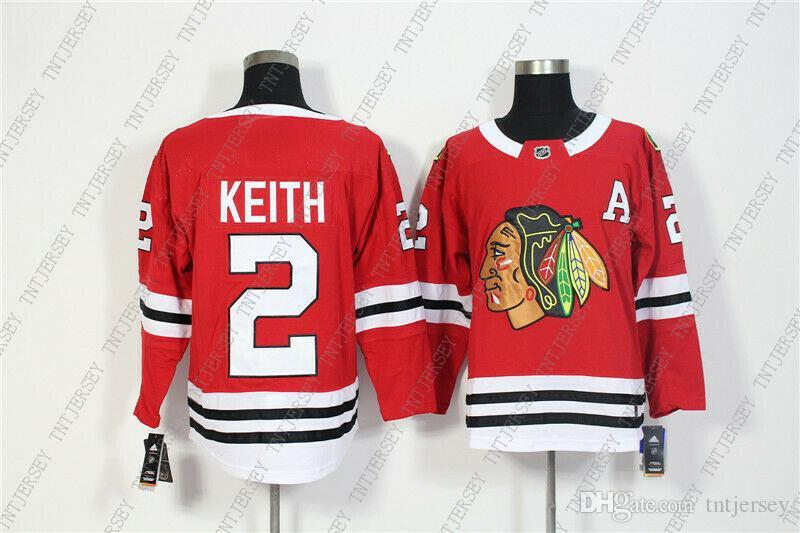 Cheap Custom New Men's Chicago Blackhawks 2 Duncan Keith Red Home Hockey Jersey Personality stitching custom any name number XS-5XL
