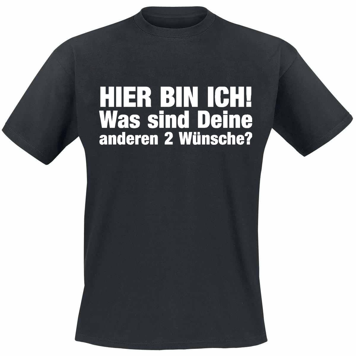Hier Bin Ich Coole Lustige Sprüche T Shirts Fun T Shirt Funny Free Shipping Unisex Casual Tshirt Top