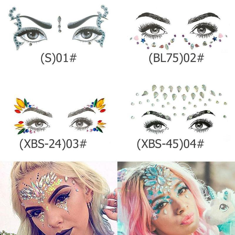 2c3ffe6d4 Fake Tattoo Women Crystal Rhinestone Jewelry DIY Body Face Jewels Art Tattoo  Design Butterfly Vivid Temporary Sticker Temporary Tattoo Paper Airbrush  Tattoo ...