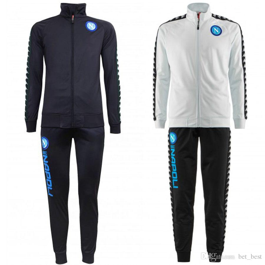 294b9a1d969bb 2019 Napoli Dark Blue Europa Representation Tracksuit 2018 2019 Ice Naples  Training Sport Soccer Jacket Italy Club Soccer Tracksuit Set From Bet best