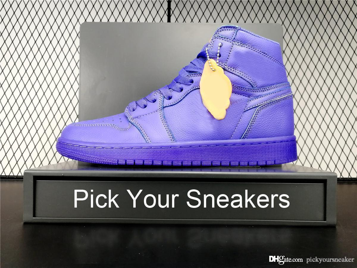 new concept d1194 66303 1 1s Rush Violet Retro Mens Basketball Shoes Sneakers Gatorade Purple  Athentic Designer Shoe Men Boy Sports Trainers Running Shoes With Box