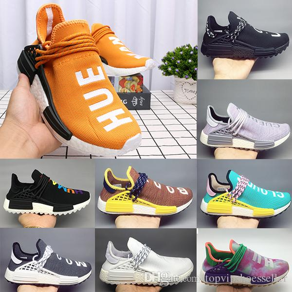 check out 3a290 6f0e1 Adidas Human Race 2.0 Nmd x Chanel Colette Chaussures de course Nerd noir  Hommes Femmes Pharrell Williams HU Runner Jaune Blanc Rouge baskets de sport