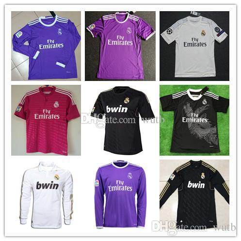65ba3ace5 2019 Retro 2011 2012 Real Madrid 14 15 16 Home Soccer Football Jersey KAKA  RONALDO ZIDANE Beckham 2005 06 RAUL Robinho Long Sleeve Jersey From Wutb