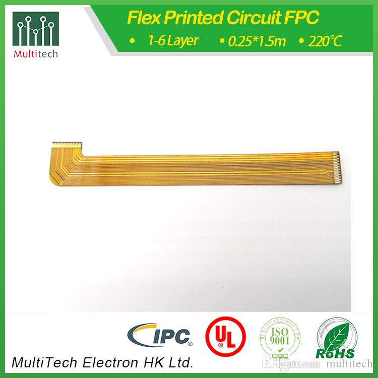 Urgent2 Layer Flex PCB FCCL 1mil base flims ENIG finished laser hole yellow  coverlay manfacturer supply Prototype 2- 5days delivery Low cost