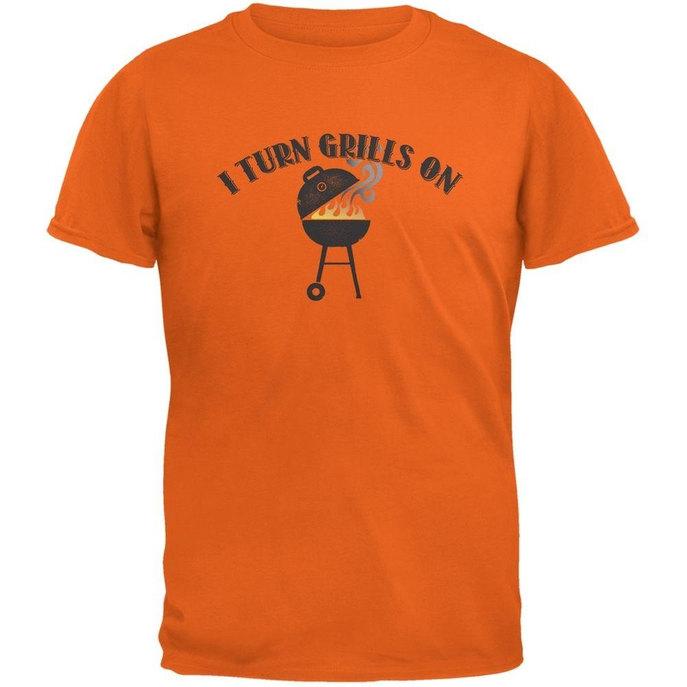 d66eed3447 I Turn Grills On Orange Adult T Shirt Funny Unisex Casual Gift Ordering T  Shirts Rude T Shirt From Free_will_shirts, $12.96| DHgate.Com