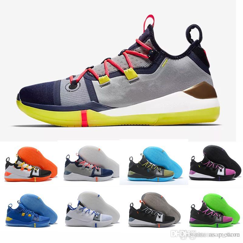 new arrival 2da3b fcc6c 2019 New Kobe AD EP Mamba Day Sail Wolf Grey Orange Multi Color Basketball  Shoes For High Quality Mens Trainers Sports Sneakers Size 7 12 Carmelo  Anthony ...