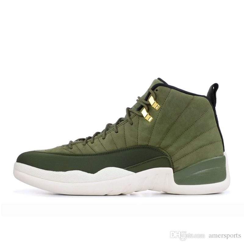 2018 Newest 12 Graduation Pack Release 12s CP3 CLASS OF 2003 Olive Green  Suede Basketball Shoes Mens Trainers Brand Jumpman 130690 301 40 47 Sports  Shoes ... df648a1c2
