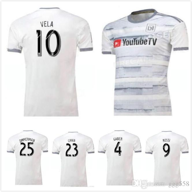 detailed look 8d449 cc3e6 Size S-XXL 2019 LAFC away soccer jerseys home white ROSSI 9 VELA 10 GABER 4  19 20 JERSEY 2020 FOOTBALL SHIRTS