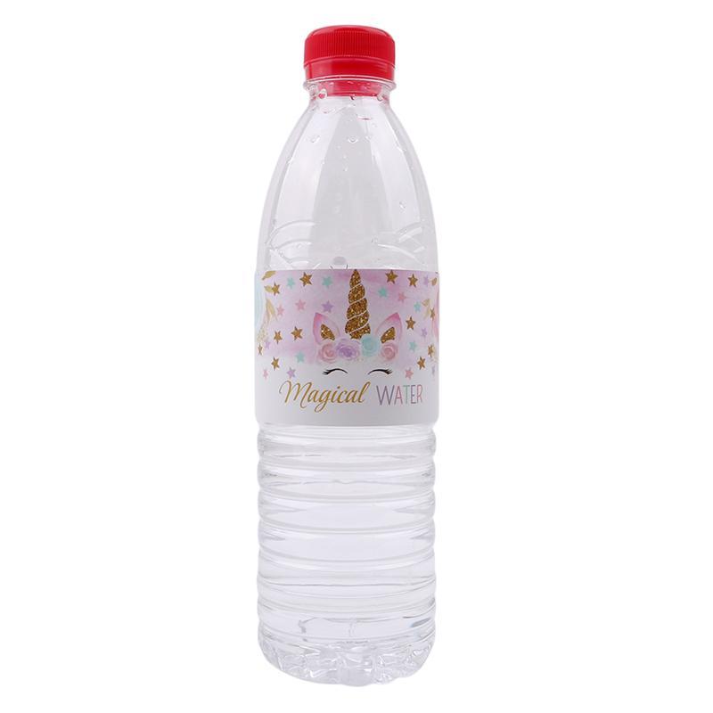 unicórnio garrafa adesivos de chá de unicórnio do partido do bebê decoração da festa de aniversário suprimentos unicórnio etiqueta garrafa adesivos